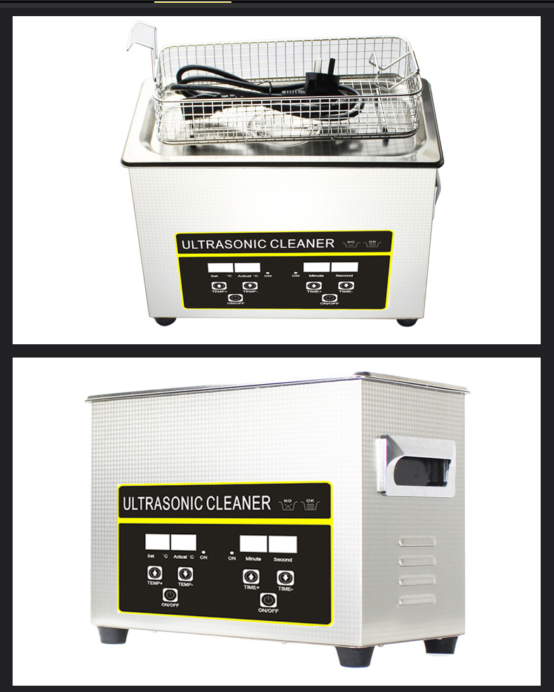 FCC CE ROHS Ultrasonic cleaner for Medical Dental Lab Surgical Instruments Metal Plastic Parts CR-030S 4.5L 40khz