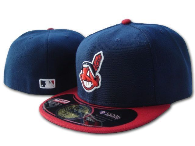 NEW Cleveland Indians Blue Baseball Fitted Hats Men's,Sport Hip Hop Closed Caps Women's,Fashion Cotton Casual Hats Free Shipping