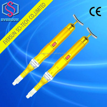 Best quality Nano derma pen Meso pen Stailess derma pen With golden Beauty T bar for facial massage with 12 needle cartiage