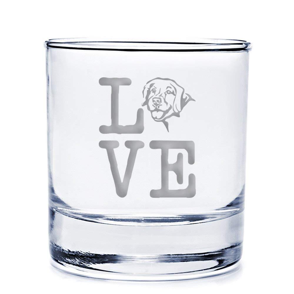 Love Golden Retriever Engraved 10-ounce Rocks Glass