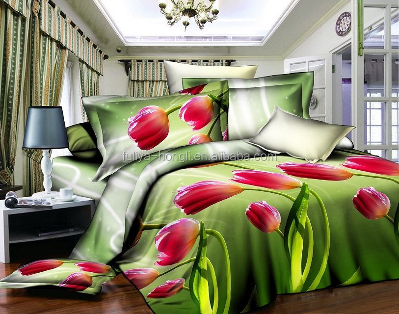 factory manufacture cotton king size 3d duvet cover