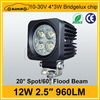 Square Style Car ATV UTV Tracktor 12 Voltage 12w work light led