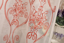 2016 America curtain design 100% polyester embroidered dolly sheer window curtain drapery