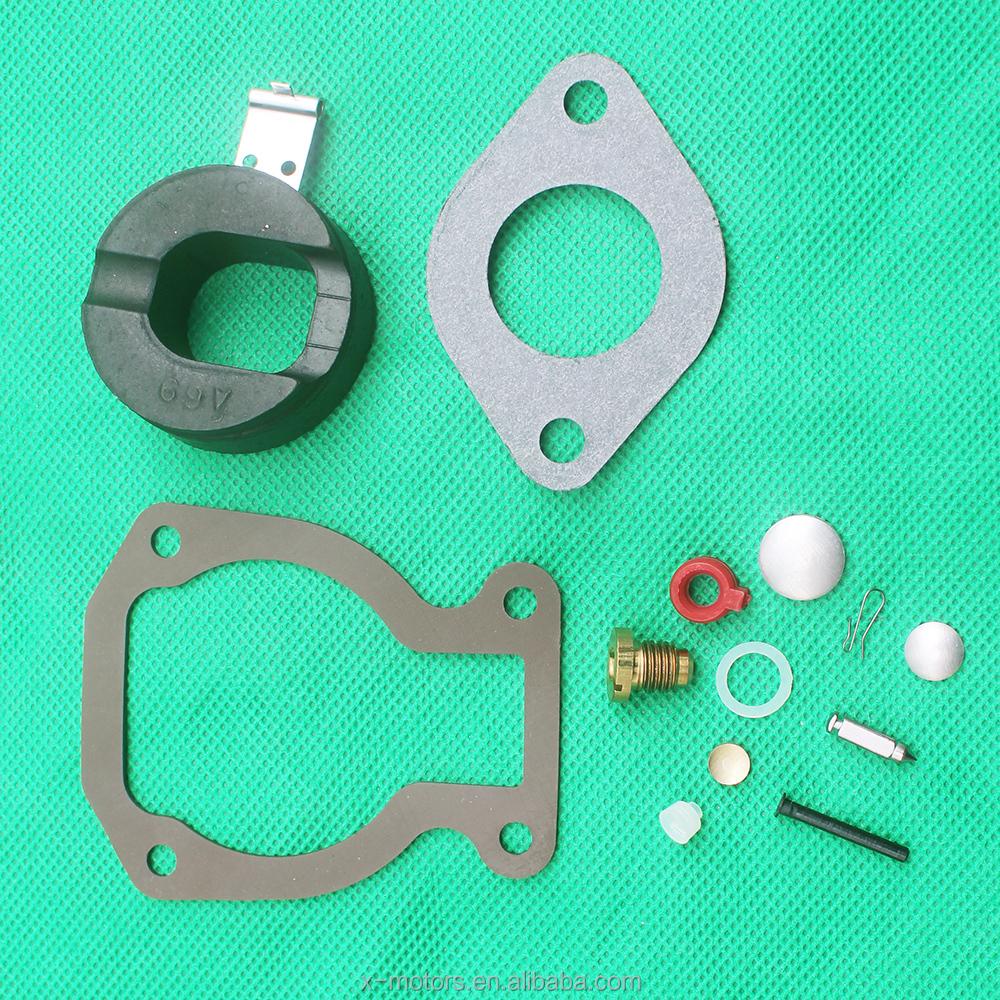 Carburetor Rebuild Kit with Float for Johnson Evinrude 4-15HP Outboard Motor