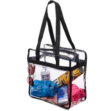 New Style transparent clear pvc tote bag with long shoulder strap