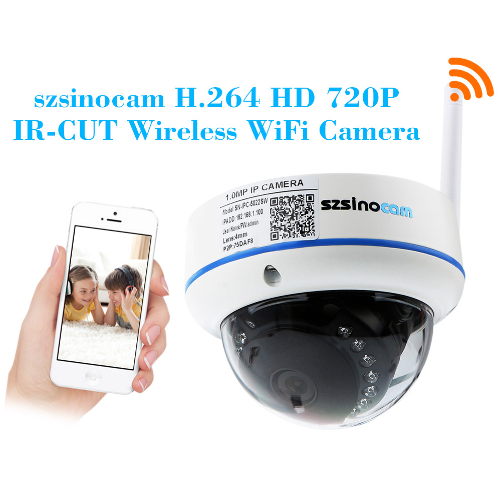 Wireless HD 720P H.264 1.0 Megapixel WiFi IP Camera with 15pcs IR LEDs P2P Day Night CCTV Security Camera Android iOS View