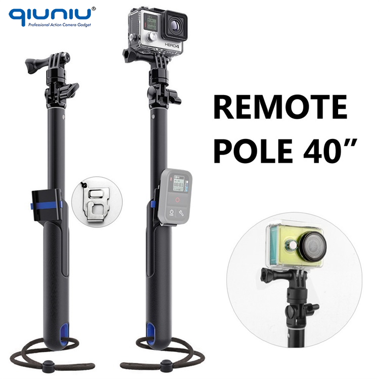 Brand New Large Size Extendadle POV Remote Pole 40'' inch Monopod Handheld Stick for GoPro Hero 4 3+ 3 2 SJ4000 Xiaomi Yi
