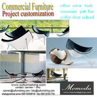 Famous coconut designer modern fashion restaurant public area coffee shop club cheap price chair
