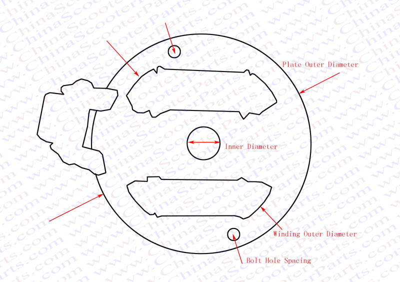 Magneto Stator Plate 2 Pole 6 Wire Rotor Flywheel Kick Start 50cc – Kick Start Wiring Diagram 110cc