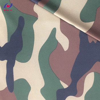 Camo Print 88 Polyester 12 Spandex Heavy Duty Stretch Fabric For Leggings