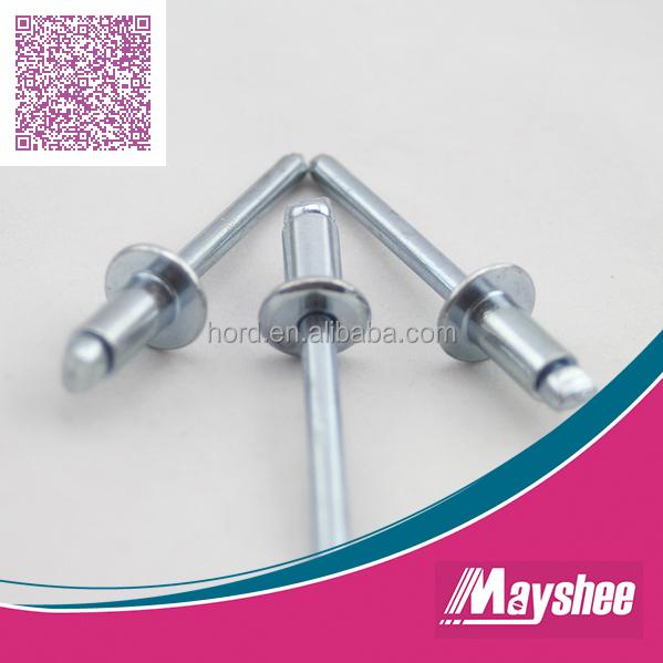 Dorn Stahl verzinkt Blindnieten 3,2x6 Flachkopf  Nickel Kupfer 10 Stk