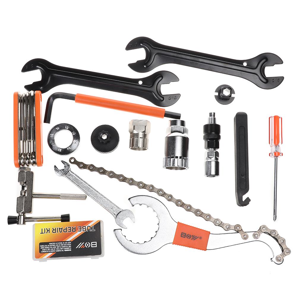 26pcs Multifunctional Bicycle Bike Multi Tool Repair Kit MTB Road Bike Tool Set Cycle Mountain Bicycle Tool Kit