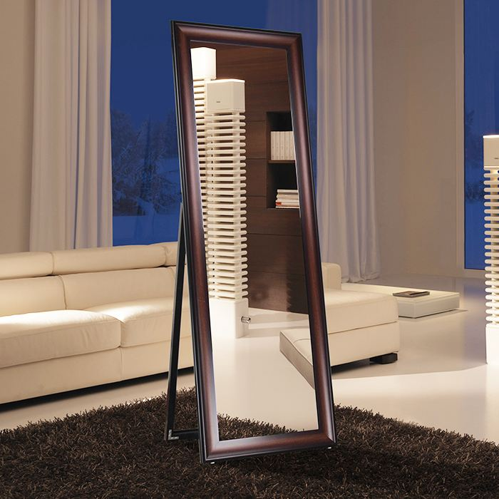 Floor standing mirror wooden framed full length mirror