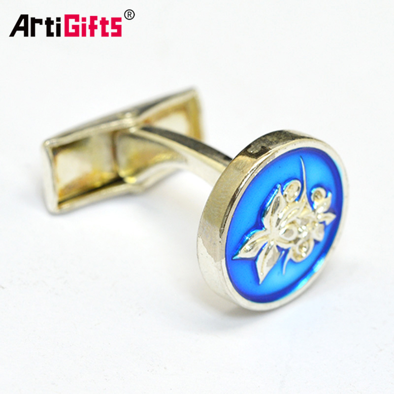 Cufflink manufacturer Custom high quality low price tie metal cufflink