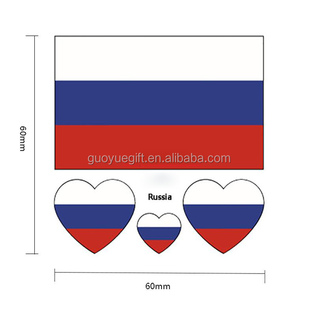 Russland Wm Gruppe A Nationalflagge Gesicht Tattoo