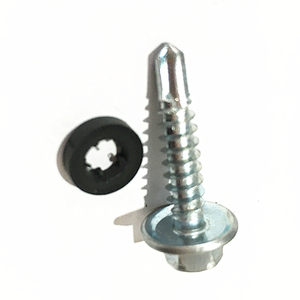 High Performance Din7504 Hex Washer Head Self-Drilling Screw with Rubber Washer Attached