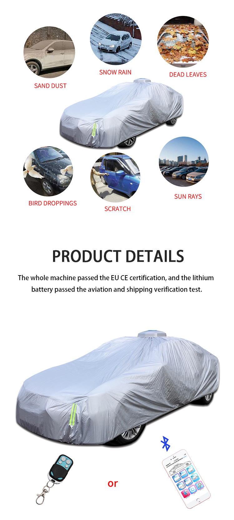 CY-B-041 Car proof sunshade solar smart car parking clothing