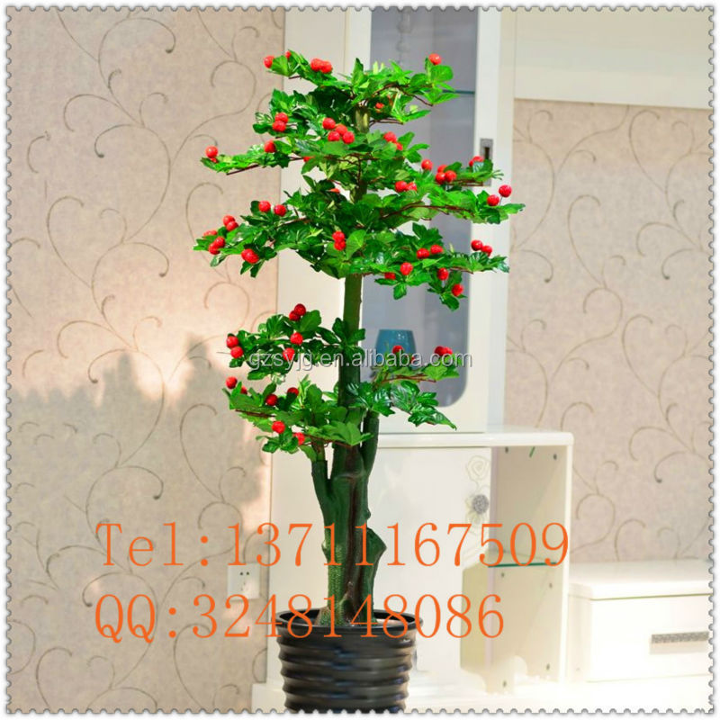 direct factory artificial fresh fruit tree / fake cherry bonsai/ artificial cherry tree for office decorative