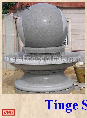 Shandong White granite carved fortune ball for garden decoration