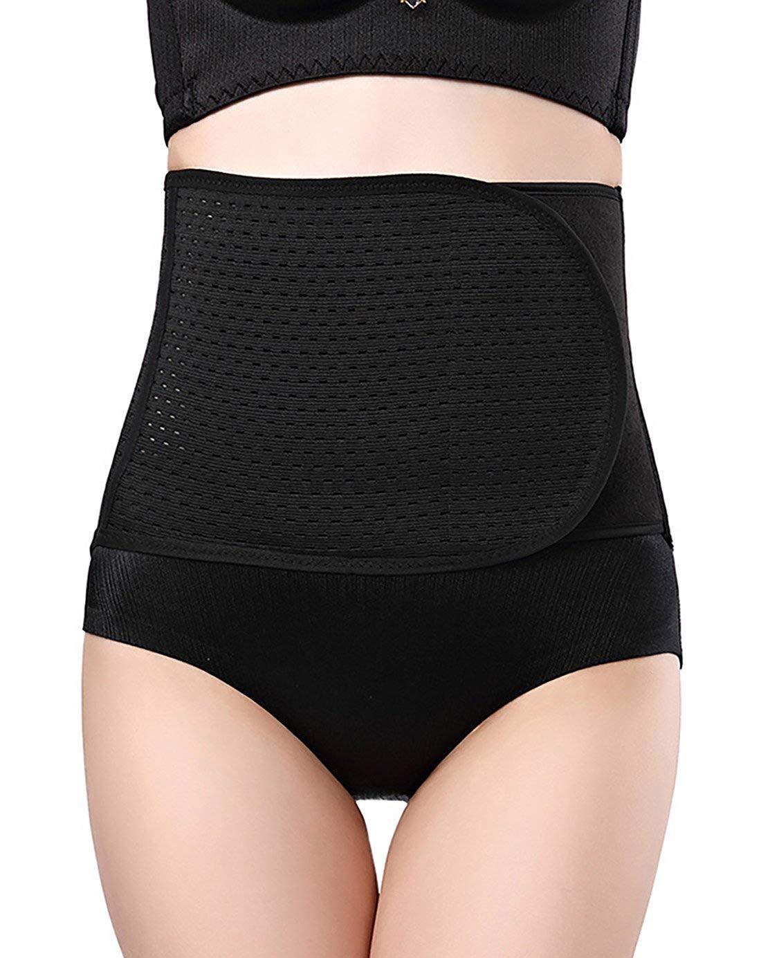 2c91b70ec Get Quotations · Aivtalk Women s Postnatal Recoery Belly Waist Trainer  Breathable Girdle Belt Slimming Fat Burner Body Shaper