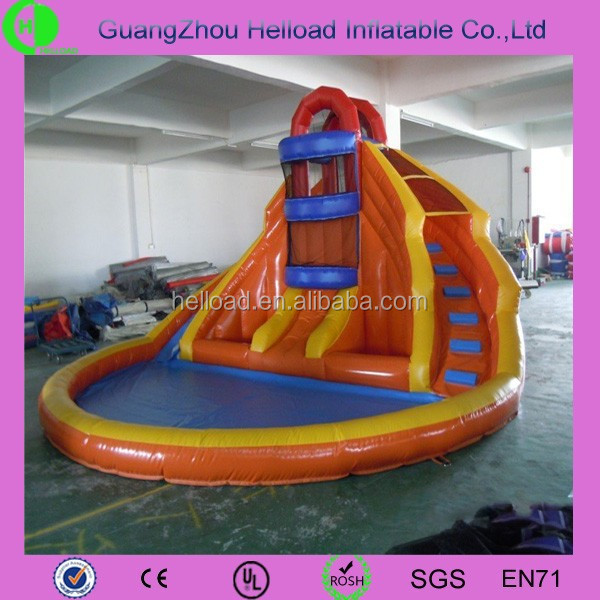 Mini Inflatable Water Slides with Swimming Pool
