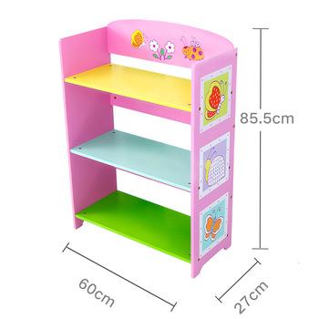Children Toys Storage Rack Picture Book Baby Nursery Finishing Storage  Locker Rack Wooden Bookshelf