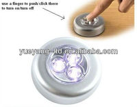 Peel and stick on wall led light/ 3 led touch lamp/stick touch led light