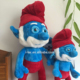 Popular fashion blue color Smurfs animal plush toy for sale