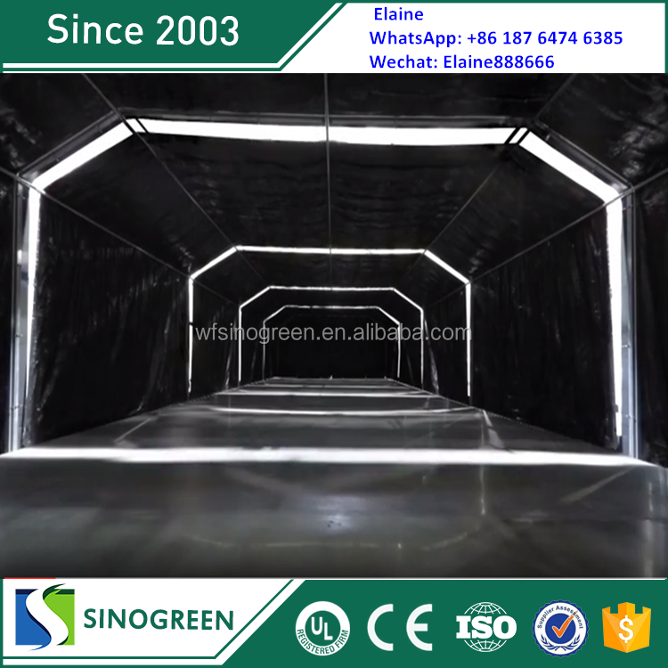 Poultry Farming light deprivation motor greenhouse with high quality