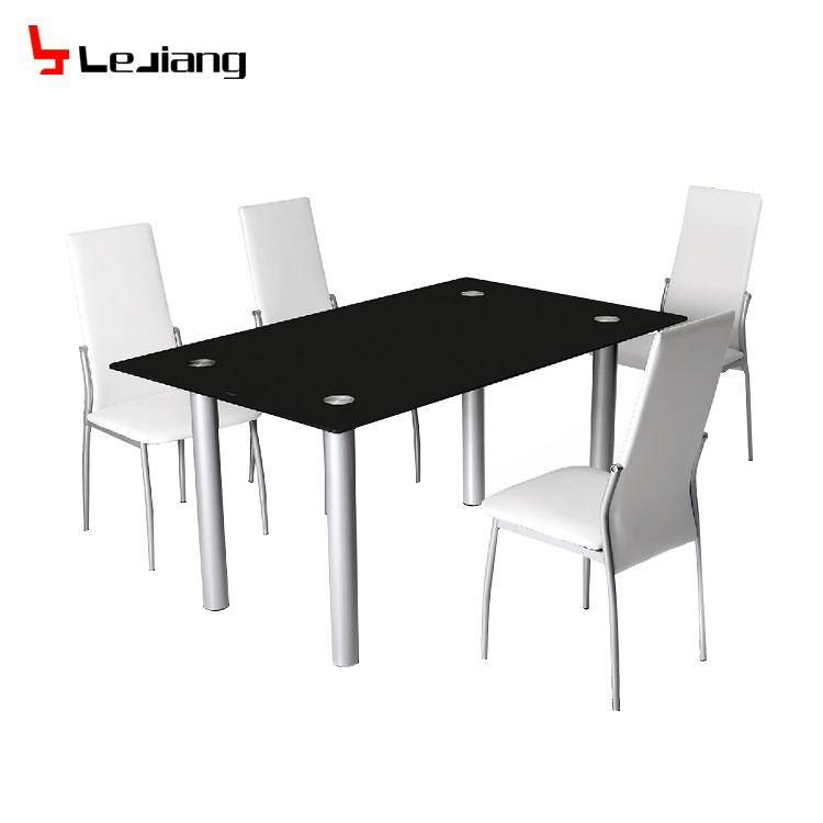 Free Sample Modern Gl Round Kitchen Table Set Restaurant Tables Chairs Dining For Furniture Product On
