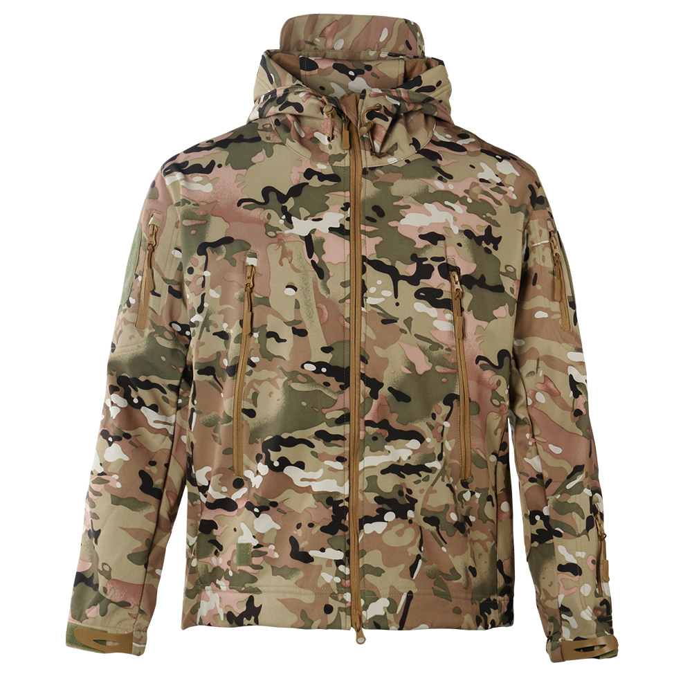 Mens Camo Outdoor Activity Tactical Hunting Running Softshell Jackets фото