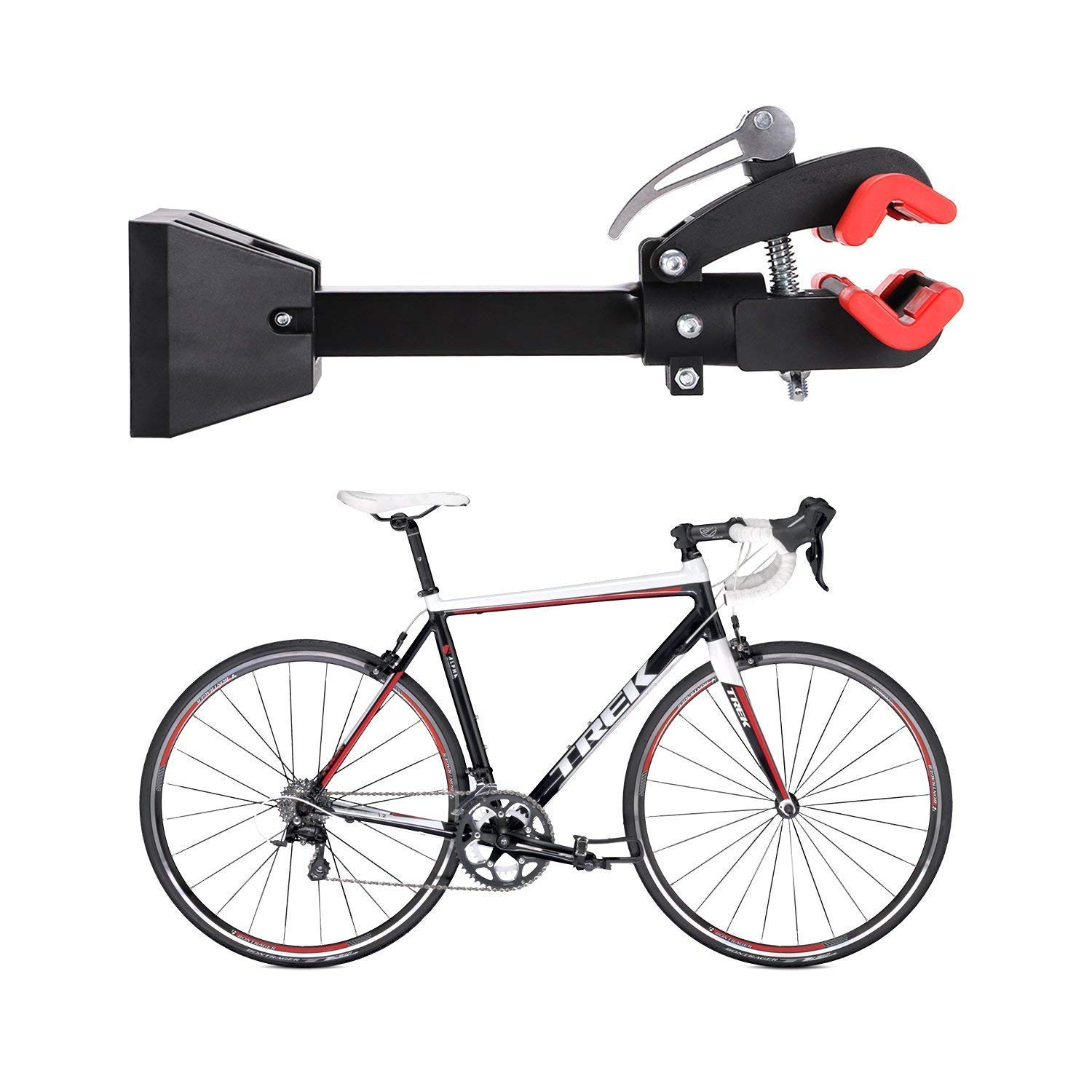 Gharpbik Workstands Bike Repair Stand Tool-Bike Wall Mount Bicycle Stand with Quick Release Adjustment Clamp Bicycle Stand Wall Mounted Foldable Maintenance for Garage or Home(Model:TQXL-06-I