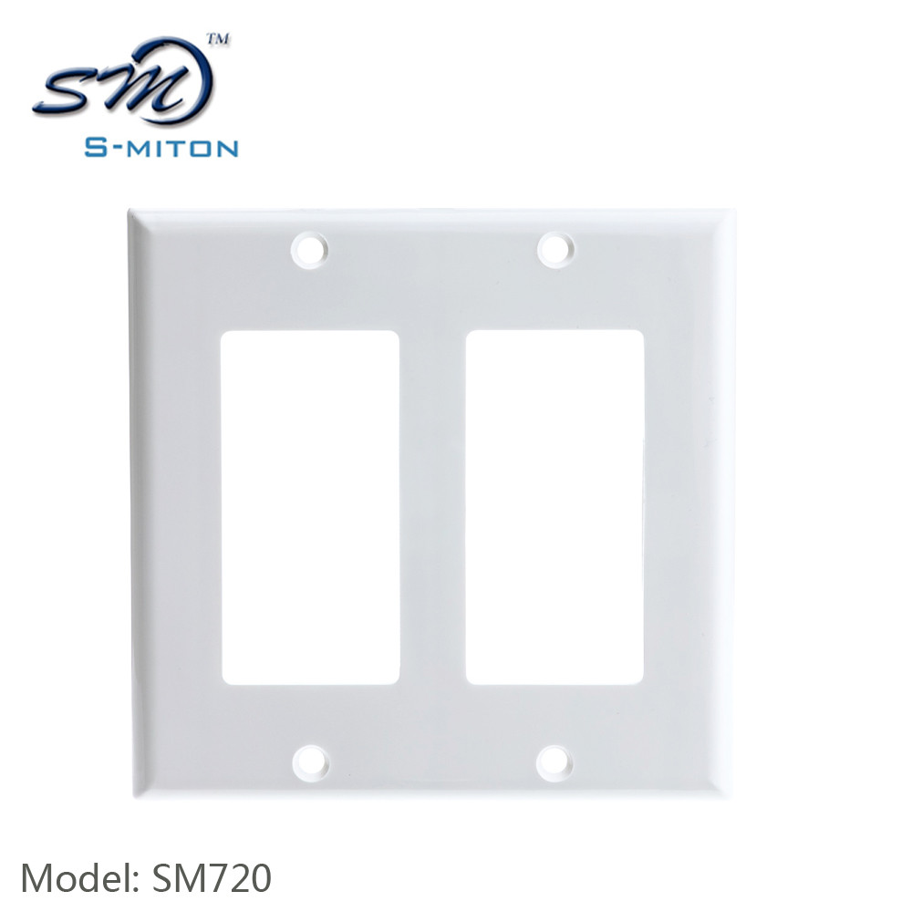 Frame face plate USA Type RJ45 2 Port Wall Faceplate