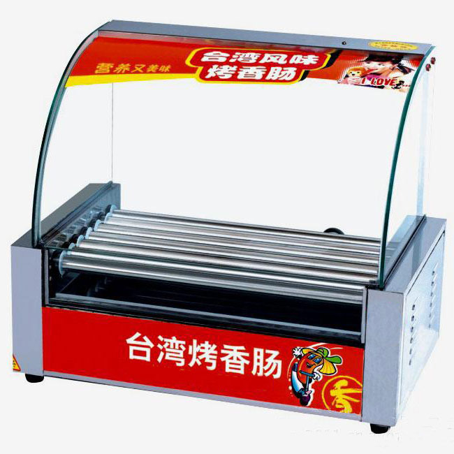 Hot Sale Glass Window Commercial Hot Dog Grilingl Machine
