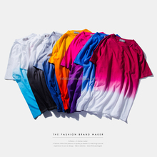 2016 Customize Cotton Material Plus Size New Printing Dip-dye T-shirts