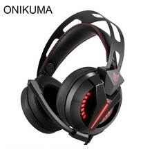 ONIKUMA M180 PS4 Gaming Headset Gamer casque Over Ear <span class=keywords><strong>Beste</strong></span> Stereo Bass Gaming Hoofdtelefoon met Microfoon voor PS4 Xbox Een PC