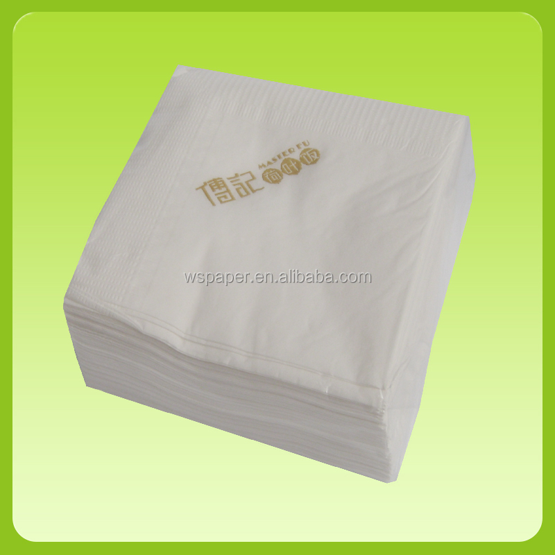 Fold disposable white paper napkins serviettes tissue paper
