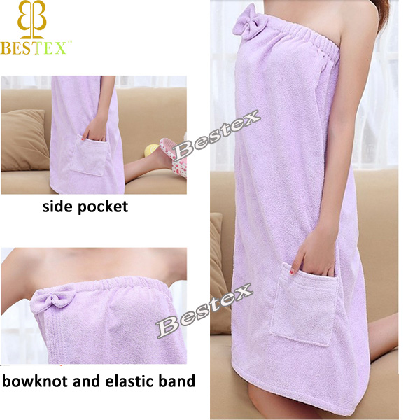 Best Sexy Fashion Ladies Women Microfiber Terry Towel Bath dress