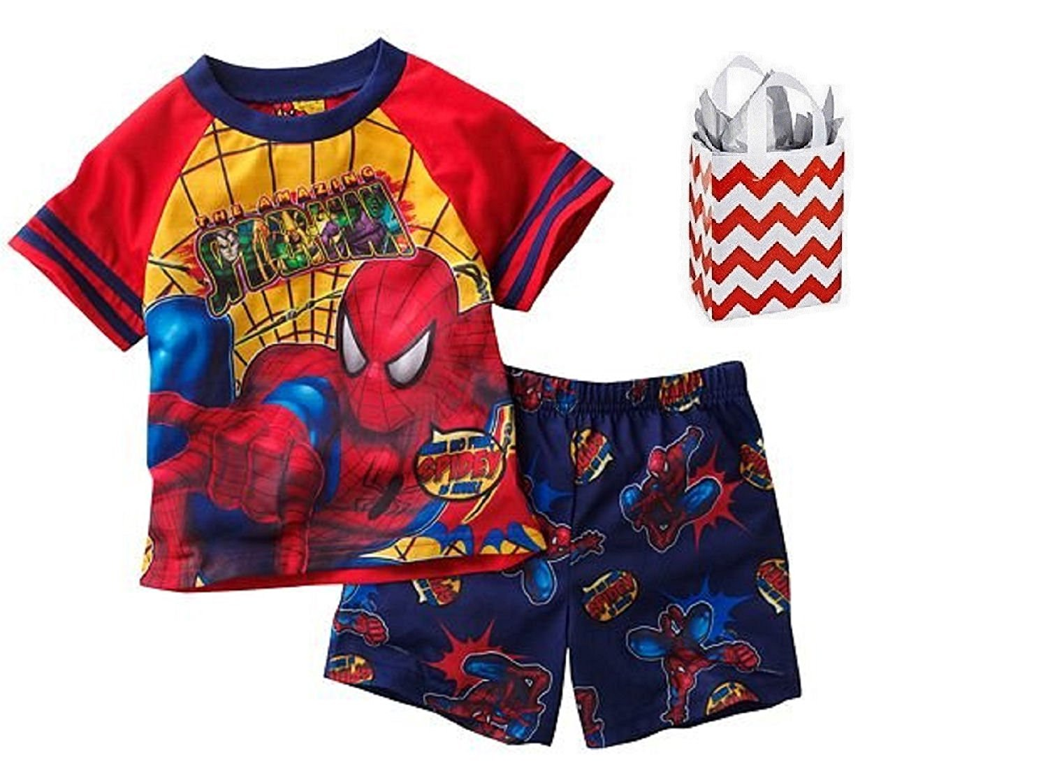 Marvel Spider-Man Little Boys' Pajama Set & Bag - Multi-pack