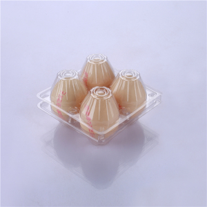 High quality hot sale ecofriendly bulk clear PET 4 holes plastic egg packaging tray / box / carton