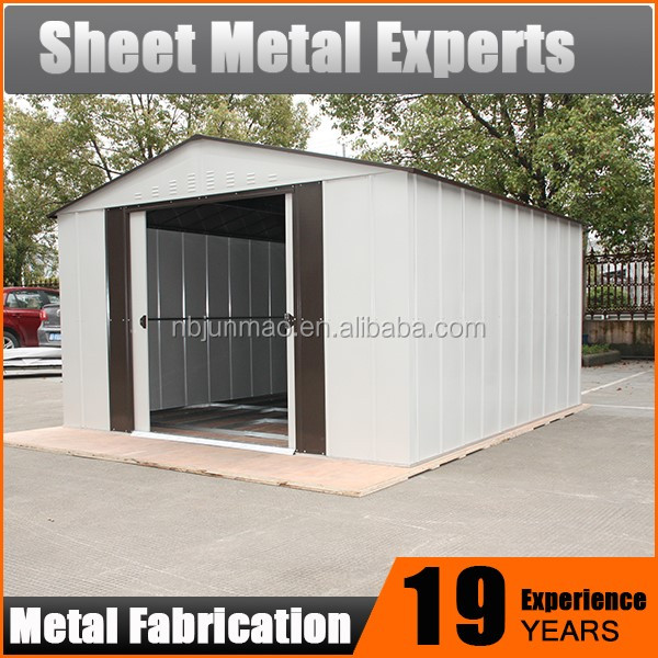 Home storage Collapsible prefab shed outdoor metal garden shed