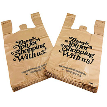 Eco Friendly Biodegradable Corn Starch & PLA Shopping Bag/ Thank you T-shirt Bag/Carry Bag