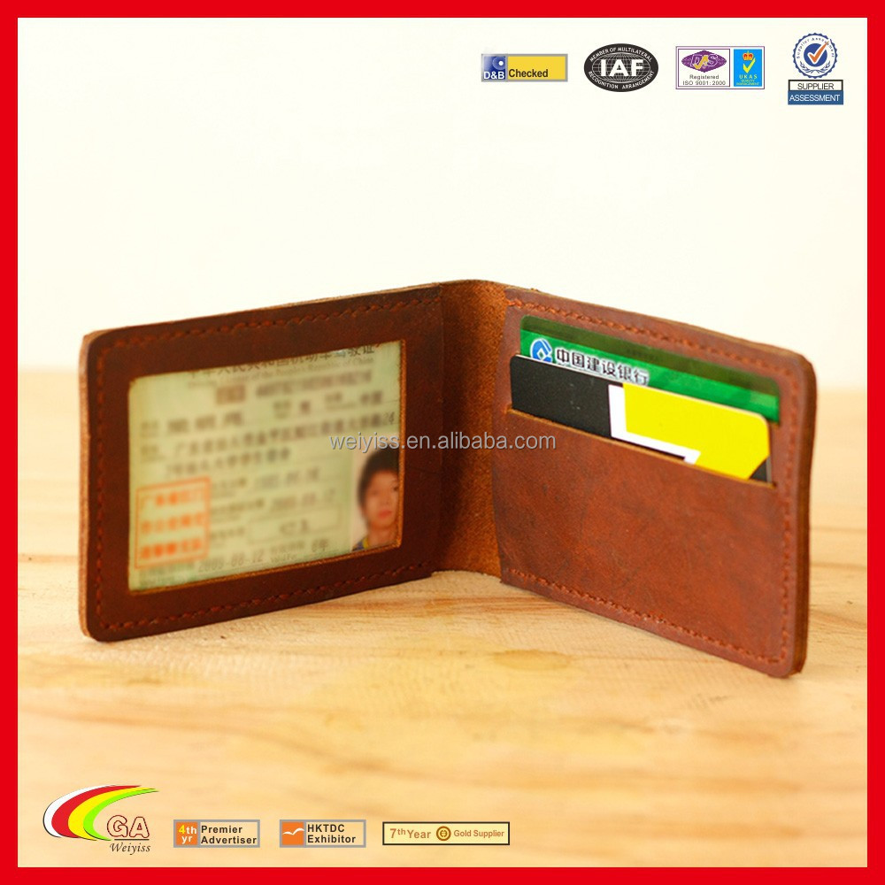Genuine Leather Driving Licence Holder, Leahter Card Case with PVC Window