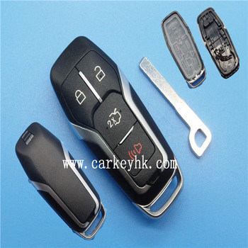 For Ford Mustang Aluminium Car Smart Remote Key Cover Case Fob Shell
