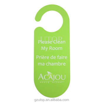 Plastic PVC Hotel Door Tags Hanger Custom