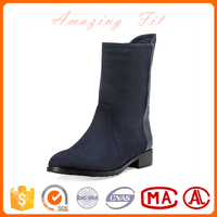 High quality fashion ladies suede/leather shoes women winter short half boots