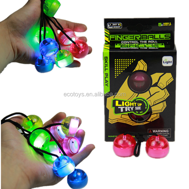 China Factory Newest Finger Balls Led Fidget Balls Toys Reduce Stress thumb chucks Ball