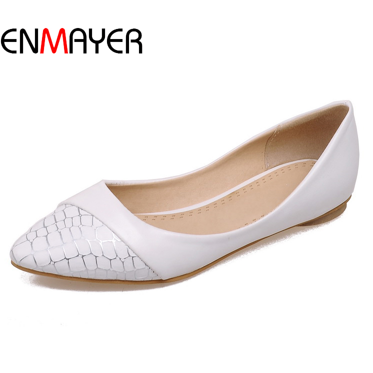 The cheapest summer pointed toe single shoes pretty slip on flat girls shoes