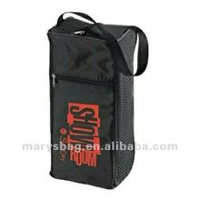 70D nylon golf shoe bag with mesh venting sides and waterproof backing