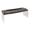 Dark Lines Salon Waiting Room Sofa Bed End Furniture Bench Acrylic Board Legs
